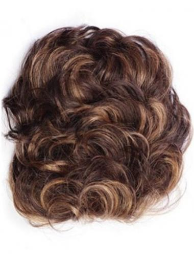 Posticci Clip-in adatto 100% capelli naturali Castano Dorato Riccia