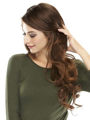 Posticci Clip-in confortevole 100% capelli naturali Castano Mossa