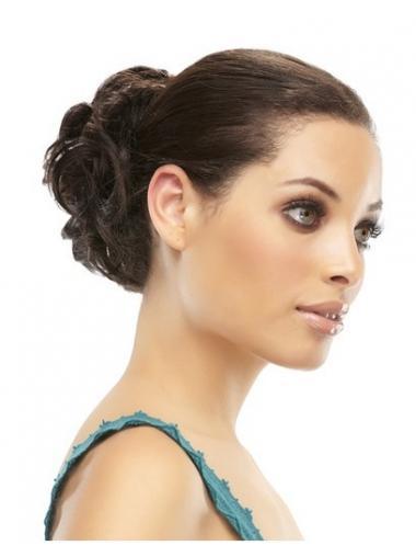 Chignon flessibilità Castano 100% capelli naturali