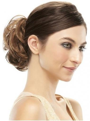 Chignon favoloso Castano 100% capelli naturali