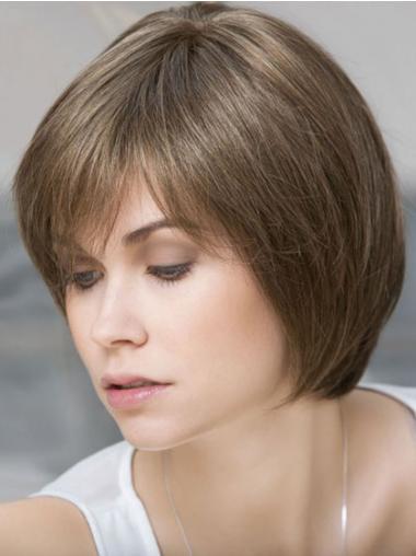 Parrucca Caschetto 100% capelli naturali naturale Liscia