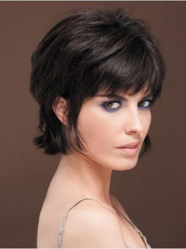 "Parrucche Naturali Affordable 8"" Macchina Liscia"