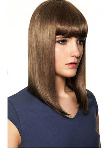 """Parrucche Naturali popolare 14"""" Macchina Liscia"""