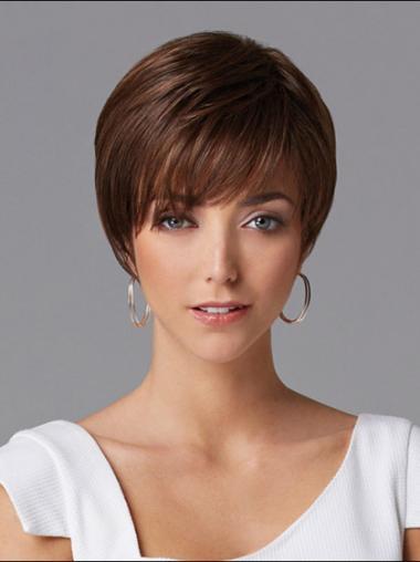 """Parrucche Naturali perfetto 8"""" Macchina Liscia"""