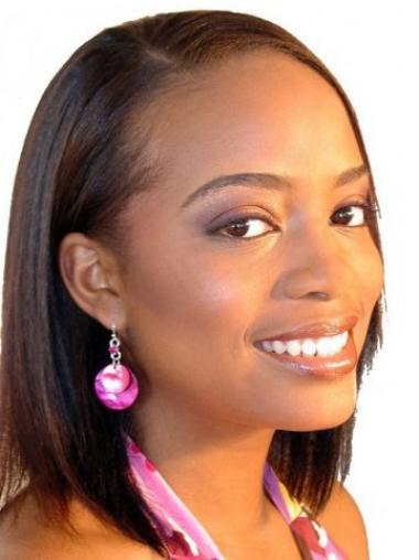 """Parrucche Afroamericano elegante 12"""" Liscia"""
