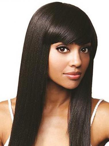 "Parrucche Afroamericano Buona 14"" Liscia"