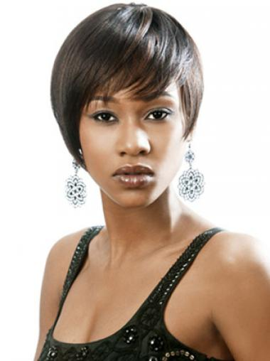 "Parrucche Afroamericano Liscia Macchina 6"""