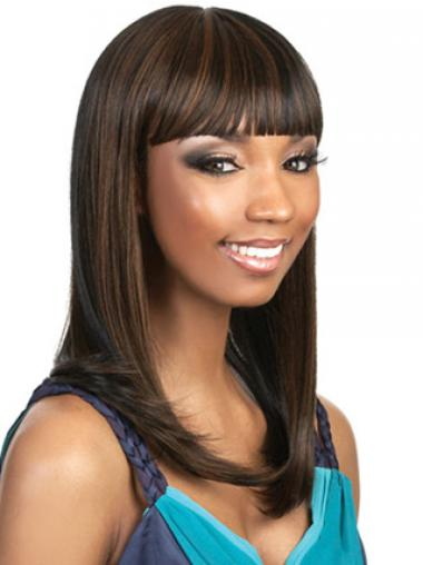 "Parrucche Afroamericano Castano 16"" favoloso Liscia"