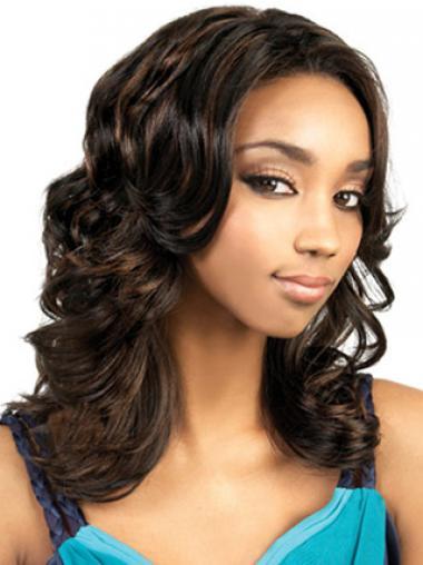 """Parrucche Afroamericano stile Senza Frangia 18"""""""