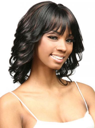 "Parrucche Afroamericano Riccia Macchina 14"" Affordable"