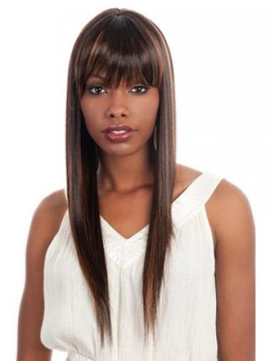 """Parrucche Afroamericano Liscia Macchina 26"""" durevole"""