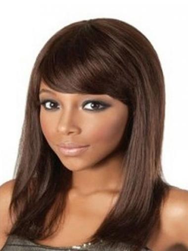 "Parrucche Afroamericano 14"" Con Frangia"