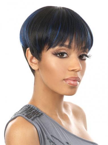 "Parrucche Afroamericano Liscia Macchina 6"" Bellissimo"