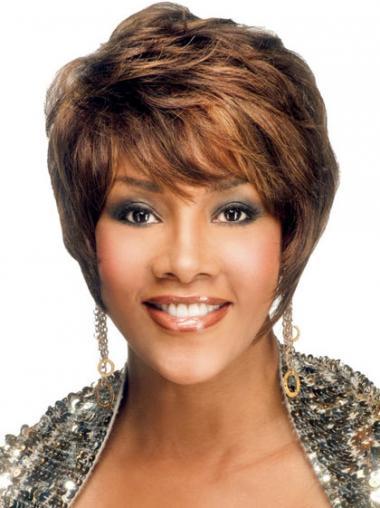 "Parrucche Afroamericano Liscia Macchina 6"" conveniente"