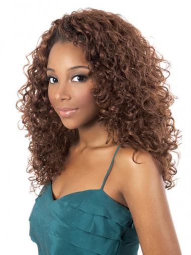 """Parrucche Afroamericano Riccia Macchina 18"""" Superiore"""