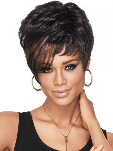 "Parrucche Afroamericano Mossa Macchina 4"" confortevole"