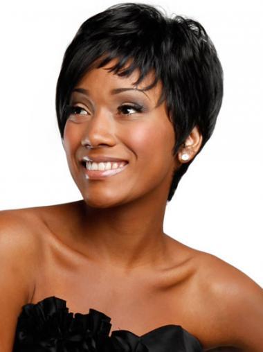 "Parrucche Afroamericano Liscia Macchina 4"""