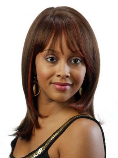 """Parrucche Afroamericano nuovo 16"""" Liscia"""