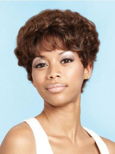 "Parrucche Afroamericano Riccia Macchina 6"" stile"