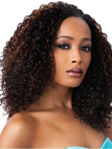 "Parrucche Afroamericano squisito Senza Frangia 16"""