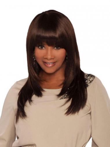 """Parrucche Afroamericano Alta qualità Con Frangia 18"""""""