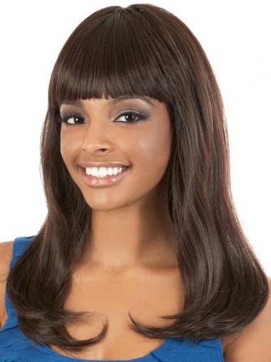 "Parrucche Afroamericano conveniente Con Frangia 18"""