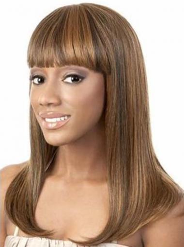"Parrucche Afroamericano Liscia Macchina 14"" popolare"