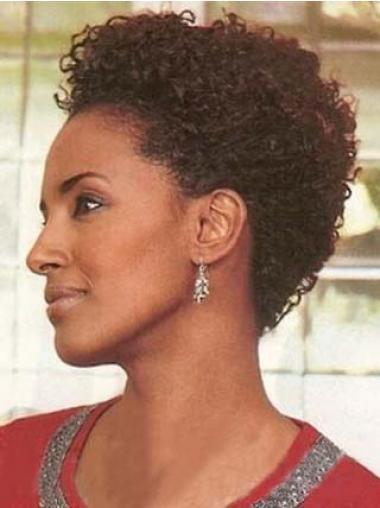 """Parrucche Afroamericano nuovo 4"""" Riccia"""