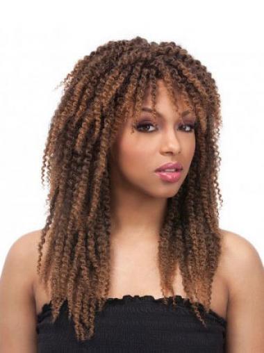 "Parrucche Afroamericano Riccia Macchina 18"" morbido"