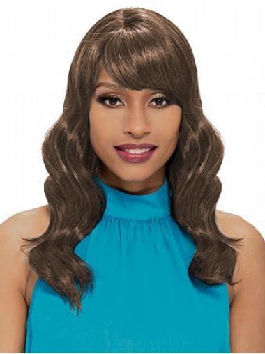 "Parrucche Afroamericano Castano 18"" conveniente Mossa"