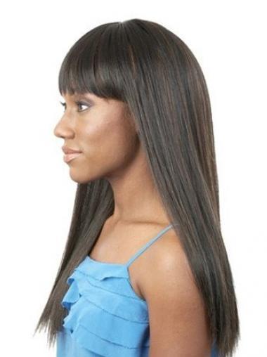 "Parrucche Afroamericano Liscia Macchina 20"" Affordable"