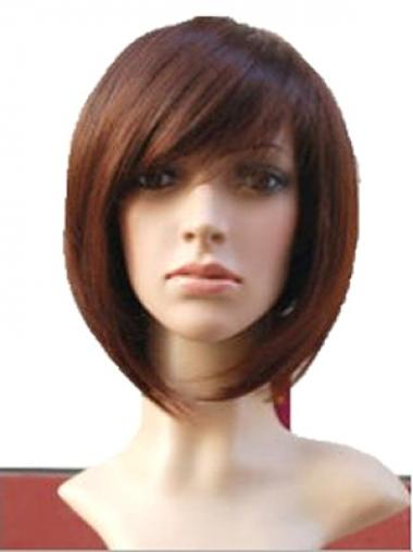 Parrucca Caschetto 100% capelli naturali elegante Liscia