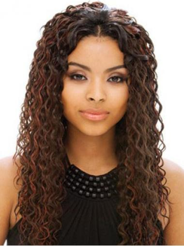 "Parrucche Afroamericano Superiore 18"" Riccia"