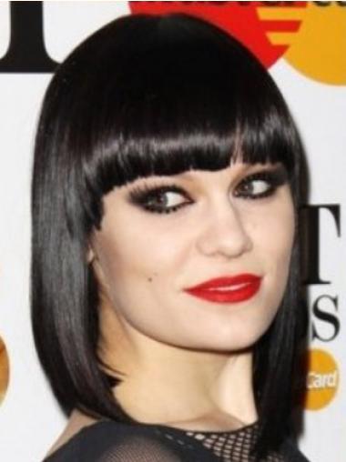 Parrucche Jessie J Altezza di Spalle Liscia Macchina In linea