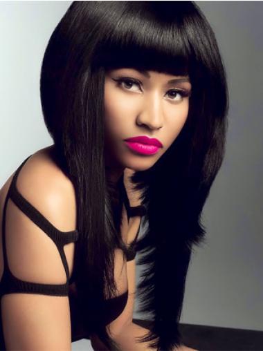 "Parrucche Nicki Minaj migliore 18"" Tulle Cinema Liscia"
