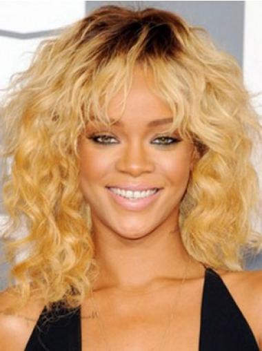 """Parrucche Rihanna 14"""" Biondo Altezza di Spalle"""