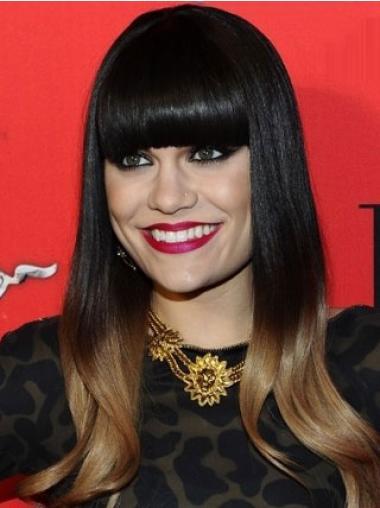 Parrucche Jessie J Lungo Liscia Monofilamento flessibilità