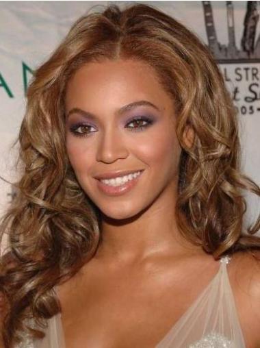 """Parrucche Beyonce Castano Dorato 16"""" conveniente Mossa"""