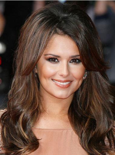 """Parrucche Cheryl Cole Castano 16"""" Alta qualità Mossa"""
