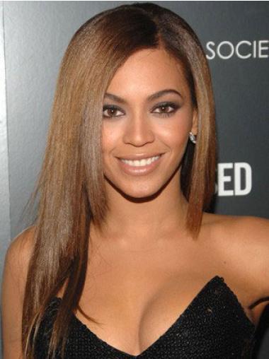 """Parrucche Beyonce Castano 18"""" Liscia"""