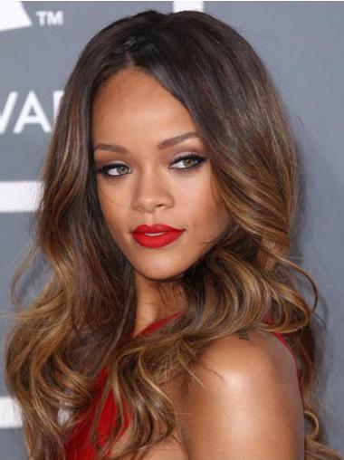 """Parrucche Rihanna 24"""" moderno Castano Lungo"""