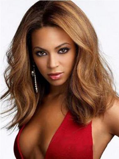 """Parrucche Beyonce Castano Dorato 15"""" stile Mossa"""