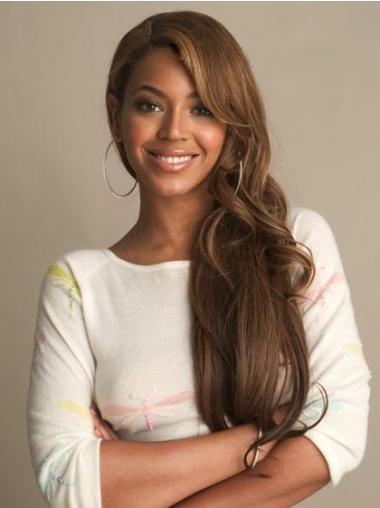 """Parrucche Beyonce Castano 24"""" moda Mossa"""