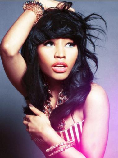 "Parrucche Nicki Minaj confortevole 16"" Tulle Cinema Mossa"