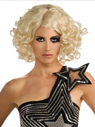 """Parrucche Lady Gaga popolare 12"""" Caschetto Riccia"""