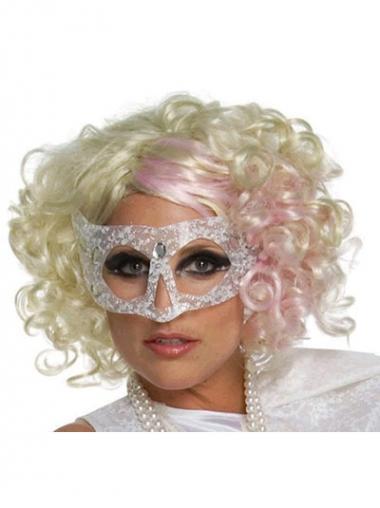 "Parrucche Lady Gaga adatto 12"" Senza Frangia Riccia"