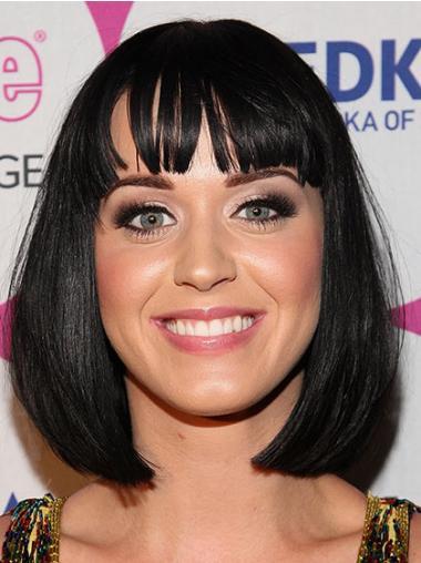 Parrucche Katy Perry Medio Corto Liscia Macchina popolare