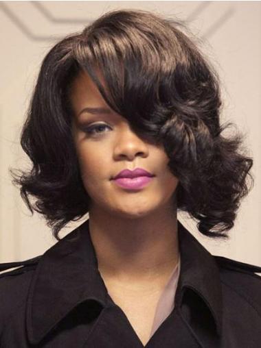 """Parrucche Rihanna 12"""" Buona Castano Altezza di Spalle"""