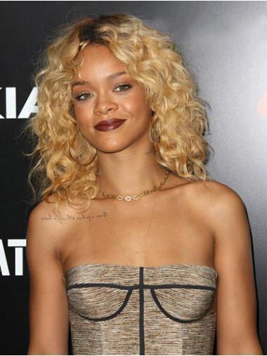"""Parrucche Rihanna 14"""" ideale Biondo Altezza di Spalle"""