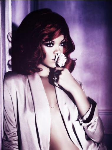 """Parrucche Rihanna 14"""" In linea Rosso Altezza di Spalle"""